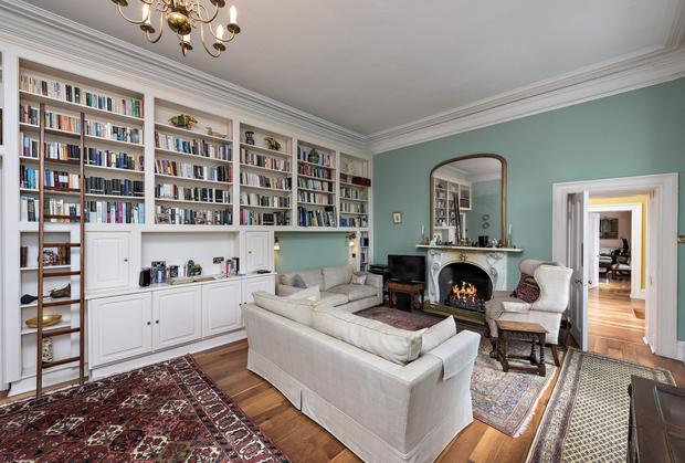 The library with built in bookcase