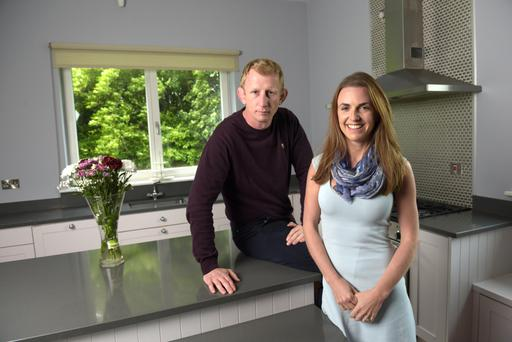 Leo Cullen and his wife Daraine in the kitchen at Culkin Lodge.