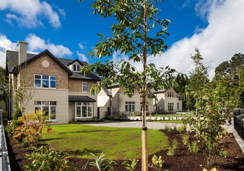 The large gardens at Rokeby Park in Lucan are unusual for modern builds