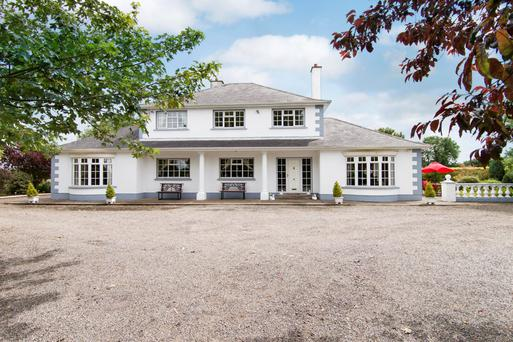 The two-storey farmhouse is 3,500 sq ft, it has five bedrooms and twomain reception rooms
