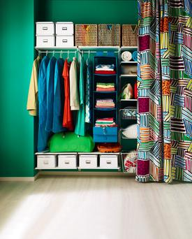 Visible storage solutions by Ikea