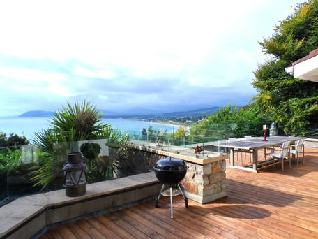 The deck with views over Killiney Bay.