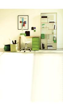 The colour co-ordinated home office pieces by Habitat.