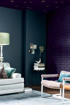 Dark-painted walls - some people go all out and paint the ceilings.