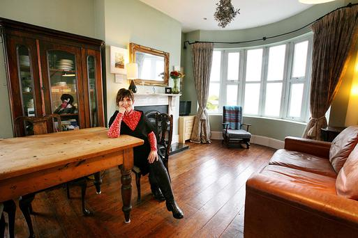 Best-selling author Morag Prunty (who writes under the name of Kate Kerrigan) in the sitting room of The Last House