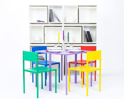 The table and chair set can pull from the 'As If From Nowhere' set.