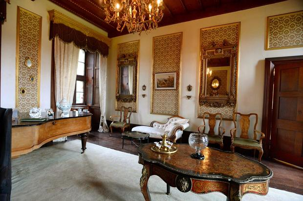 The drawing room enjoys grand proportions, measuring 25ft by 22ft.