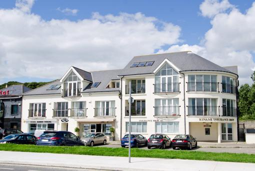 The penthouse is in a development of 12 apartments across the road from Dublin Bay.