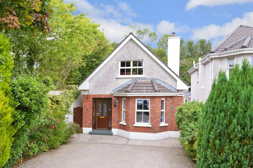 The dormer bungalow has two reception rooms and four bedrooms