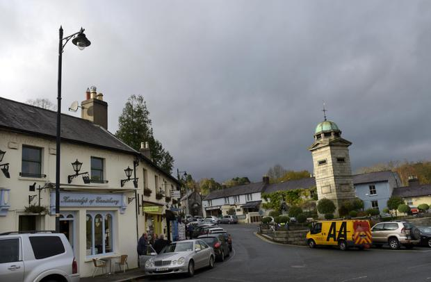 The Clock Tower in the centre of Enniskerry was built in 1843.