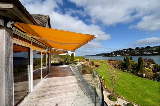 The deck looks out on to Owenabue estuary.
