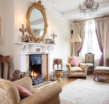 The drawing room at Templemore Avenue is lavishly furnished.