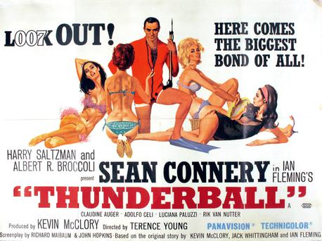 The 'Thunderball' Bond poster is expected to fetch between €2,000 and €3,000.