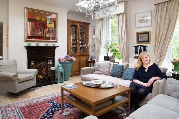 Eileen Dunne Crescenzi in her sitting room, which is at the top of the house.