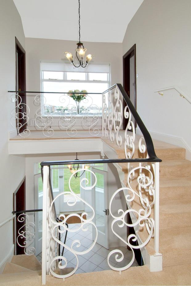 The open staircase.