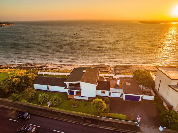 This two-storey five-bedroom property backs on to Dublin Bay and offers superb views.