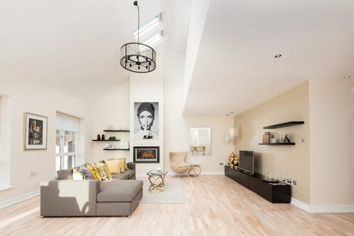 The sitting room at one of the penthouses at Embassy Court