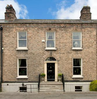 The imposing facade of the property in Ranelagh.