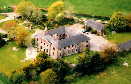 Aerial view of Farragh House, set on 3.9ac