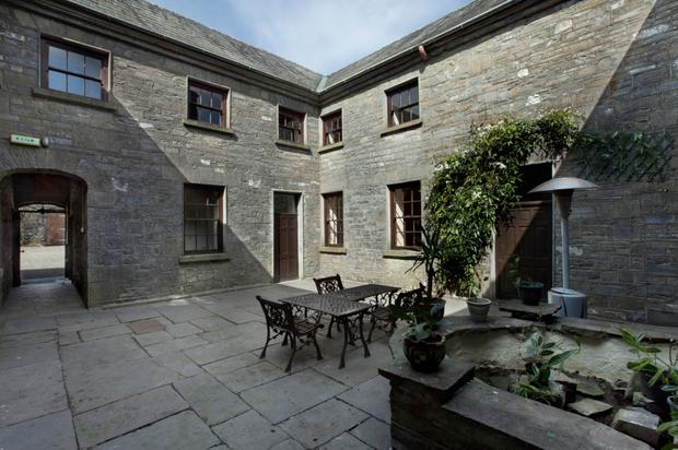 The courtyard of Farragh House is situated in the middle of the building.