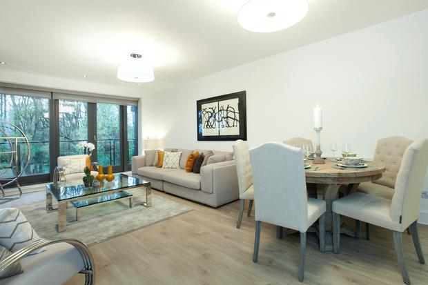The living rooms have a large open-plan space at Traverslea.