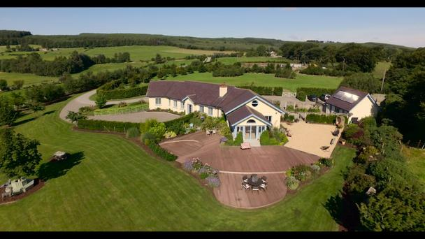 The dormer bungalow, with four bedrooms and three reception rooms, sits on 17 acres.