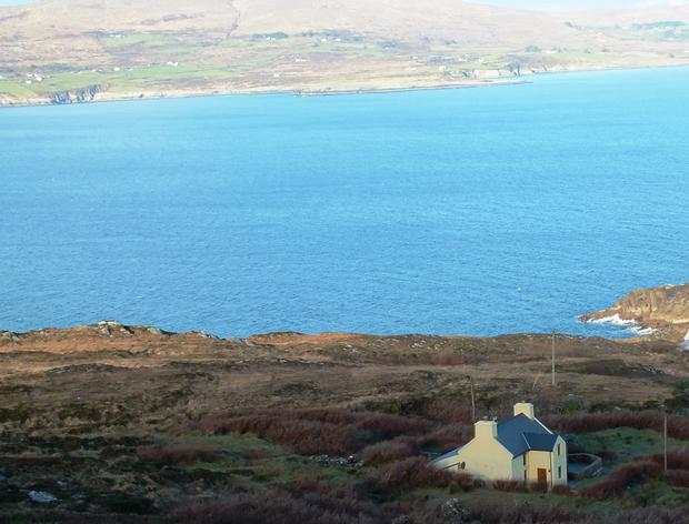 The cottage looks over Dunmanus Bay.