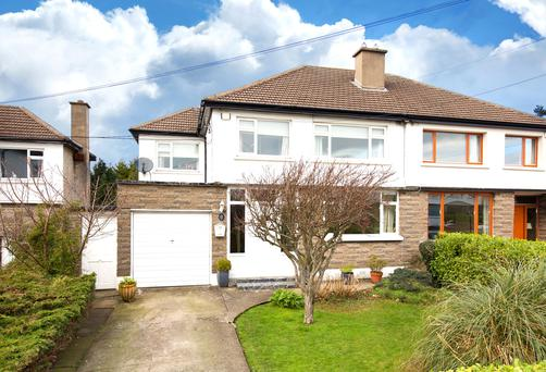 The semi-detached house has been modernised and there is potential to convert the garage.