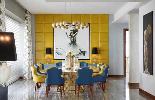 Dining area interior by Brabbu Design Forces.