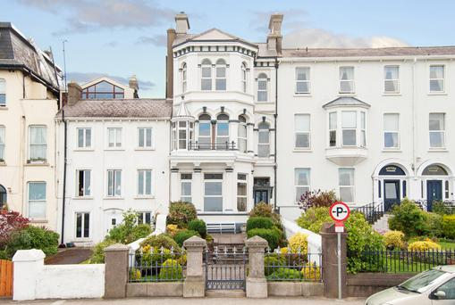 The late Victorian property stands out among its neighbours on Bray's waterfront.