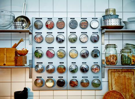 An organising spice rack from Ikea.