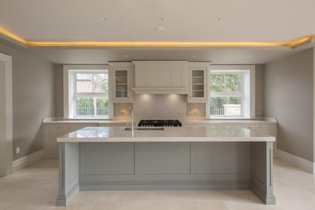 The Rhatigan Hick bespoke kitchen units.