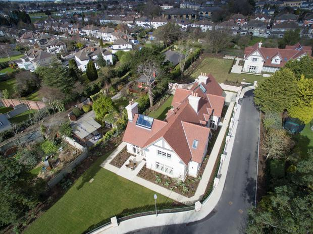 An aerial view of the Clontarf property.