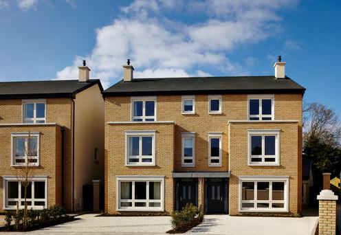The exterior of the three-storey houses at Ardilea Crescent.