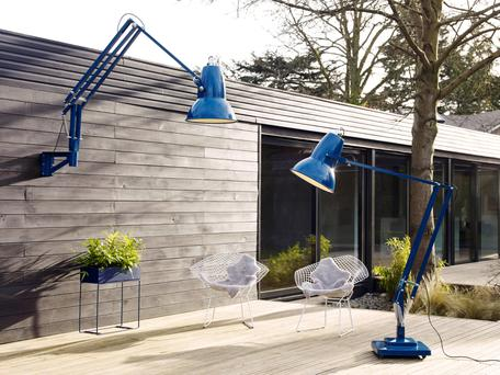 Giant Outdoor Anglepoise lamps from Lost Weekend were designed for 'The BFG' section of the Roald Dahl Museum.