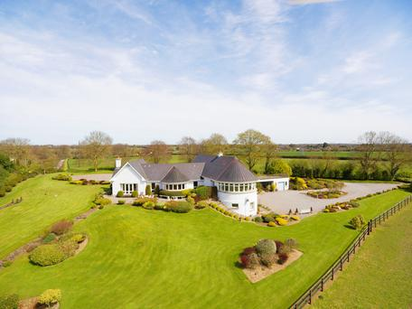 The exterior of the farmhouse in Dunboyne which comes with 12 acres of prime grazing
