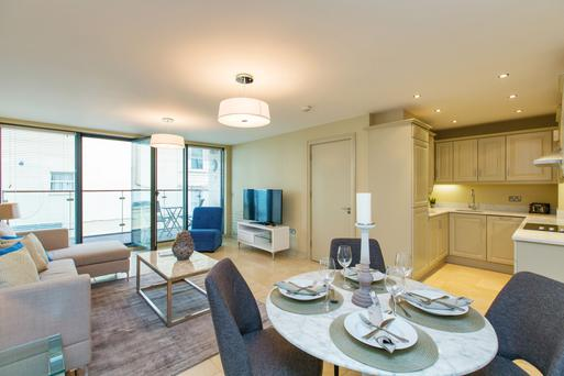 Number 4 is a two-bedroom apartment and has sea views from the balcony.