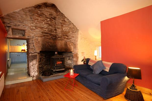 Living room of the cottage.