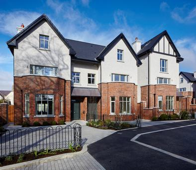 Four-bed semis and five-bed detached are on offer at Albany in Killiney, with room-controlled underfloor heating, and a courtyard-style garden.