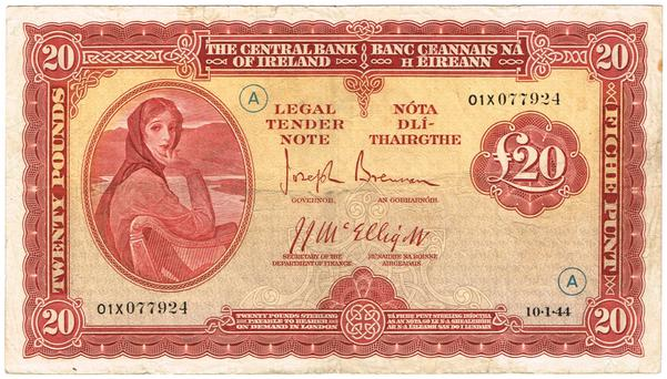 £20 note with Lady Lavery