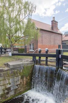 2 Percy Place - the house directly overlooks the canal locks.