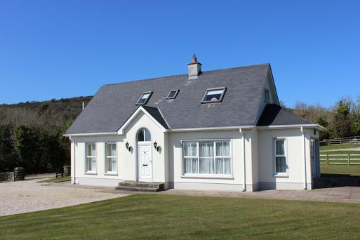 Built in 1999, the four-bed property is just two miles outside the village.