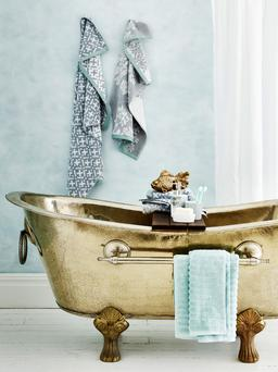 Copper and brass baths are big in the UK.