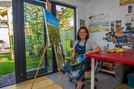 Katie Sweetman at her garden studio in Celbridge.
