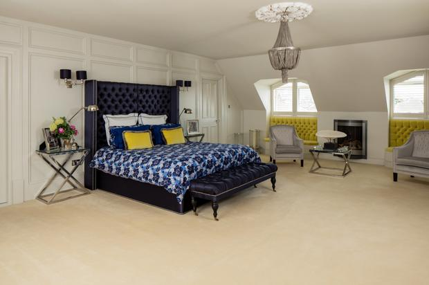 The master bed chamber has a walk-in wardrobe and ensuite.