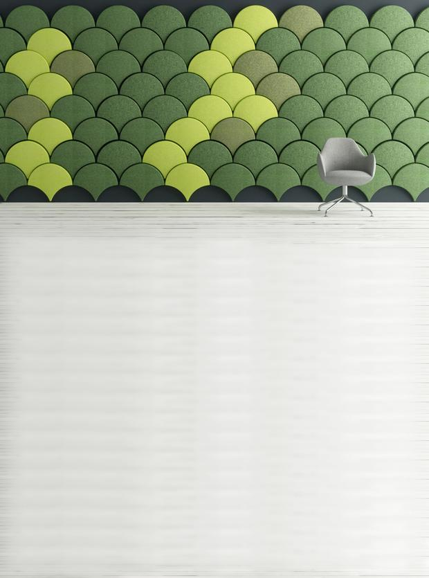 Ginkgo acoustic wall panel.