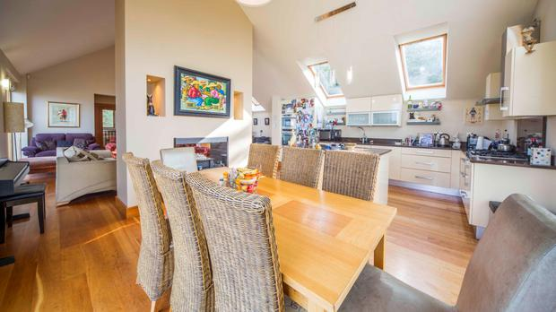 The 700 sq ft open-plan kitchen, sitting room and dining room.