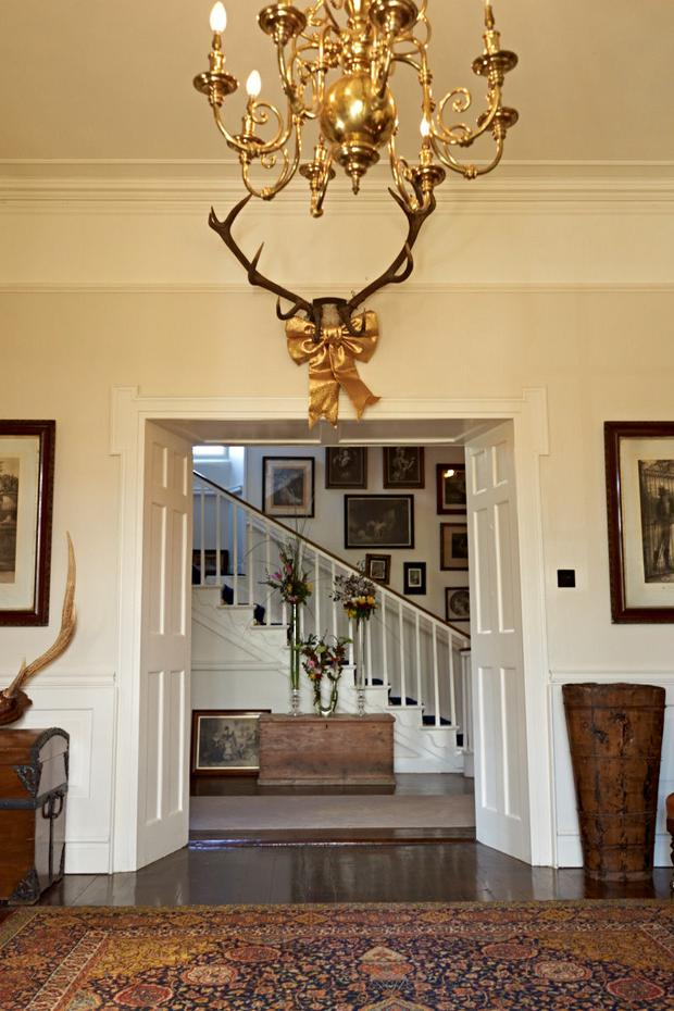 The elegant Georgian proportions on display in a view facing the hall.
