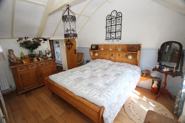 A bedroom in the cottage