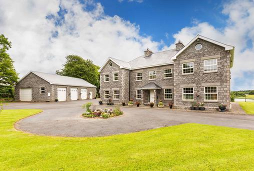 Lough Garr House was built in 2001 and extends to 3,380 sq ft with five or six bedrooms